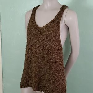 Free People Crocheted Wide Arm Hole Tank Top